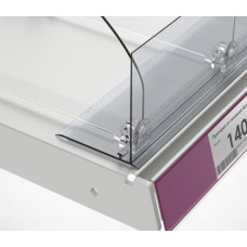 Ограничитель передний пластиковый высотой 80 мм с Т-профилем