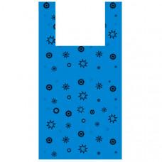 Пакет-майка «Звезда синяя» (32х60 см, 17 мкм, 100 шт.), PM-blue-stars
