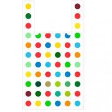 Пакет-майка «Конфетти» (28х50 см, 12 мкм, 100 шт.), PM-confetti
