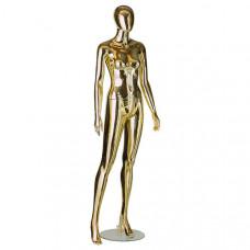 Манекен женский стилизованный (gold/silver), M-3007