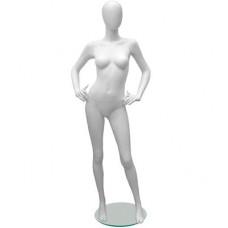 Манекен женский Glance Matte 06 ,белый