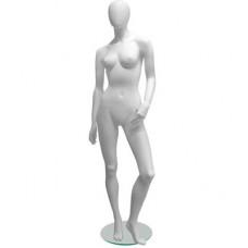 Манекен женский Glance Matte 12 ,белый