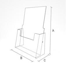 Буклетница настольная вертикальная (ф. A6, A5, A4), PB-4