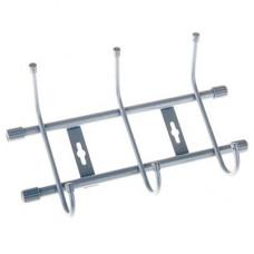 Вешалка настенная на 3 крючка для примерочной EK-821289 (серебро)