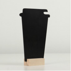"""Меловой ценник на подставке """"Стакан кофе"""", формат А6 (15×10.5 см)"""