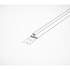 Т-профиль пластиковый шириной 10 мм для крепления разделителей на полке