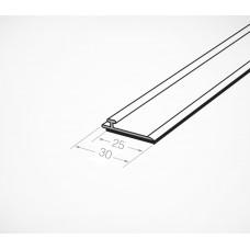 Т-профиль пластиковый шириной 30 мм для крепления разделителей на полке