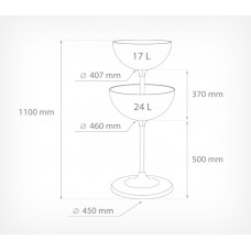Накопитель UNIBOWL-TOWER с 2-мя чашами