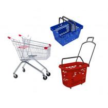 Покупательские корзины, тележки