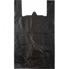 Пакет-майка без печати черная 42*70см 30мкм
