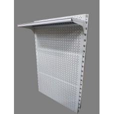 Перфорированный стеллаж металлический настенный