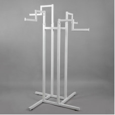 Стойка (вешало) напольная для одежды, регулируемая с 4-мя прямыми кронштейнами СТ-42-1-Л(бел)