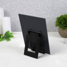 Зеркало настольное «Блик», зеркальная поверхность 15 × 19,5 см, цвет чёрный