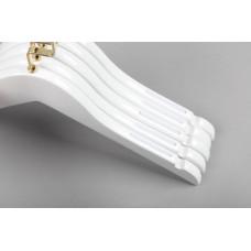 Вешалка(плечики) для детской одежды деревянная C31/1(бел/зол)