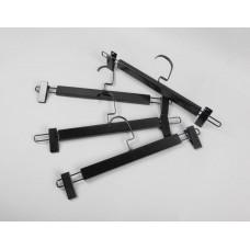 Вешалка (плечики) для одежды деревянная, с прищепками WS 006/1(черн/черн)