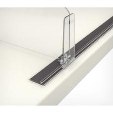 Т-профиль пластиковый шириной 30 мм для крепления разделителей на полке на магнитной ленте