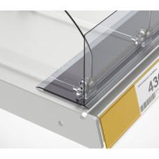 Ограничитель передний пластиковый высотой 80 мм с Т-профилем на магнитной ленте