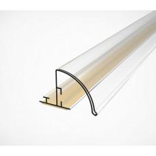 Профиль полочный закругленный с высотой вставки 30 мм