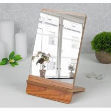 Зеркало со съёмной деревянной подставкой «Полосы»