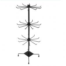 Вертушка настольная черная, 3 яруса