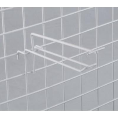 Крючок на сетку двойной с ценникодержателем, L=20, d=4мм, цвет белый