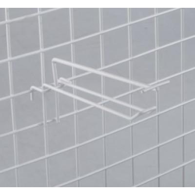 Крючок на сетку двойной с ценникодержателем, L=30, d=4мм, цвет белый
