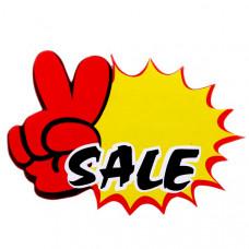 Ценник рекламный средний Sale-V (набор 20 листов), PRs-SV