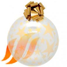 Шар прозрачно-золотой (70, 55, 40 см), Ball.005.TRG