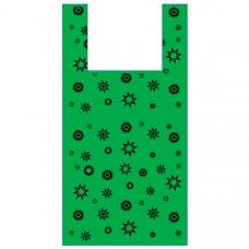 Пакет-майка «Звезда зелёная» (32х60 см, 17 мкм, 100 шт.), PM-green-stars