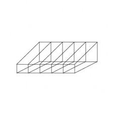 Короб для стеллажа (5 отсеков), SKR.028