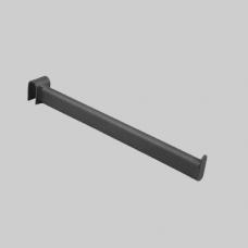 Кронштейн для овальной трубы прямой, черныйU-305-Л
