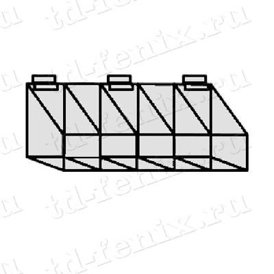 Пластиковый ящик с 5-ю отделениями, F365
