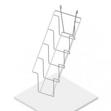 Полка наклонная 4 ячейки для колготок, П20