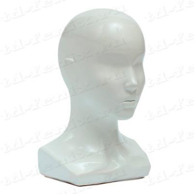 Голова женская глянцевая (обхват 52 см)
