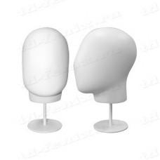 Манекен головы (мужской, обхват 55 см), H-003