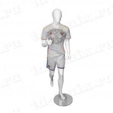 Манекен мужской спортивный (бегущий), SPR.003.M.WH