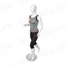 Манекен женский спортивный (бегущая), SPR.004.M.WH