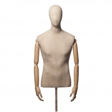 Торс-Манекен с деревянными руками (мужской), ORG.001.LBG