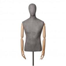 Торс-Манекен с деревянными руками (мужской), ORG.001.GR