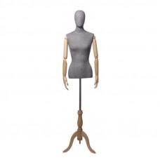 Торс-Манекен с деревянными руками (женский), ORG.002.GR