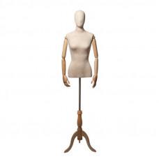 Торс-Манекен с деревянными руками (женский), ORG.002.LBG
