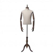 Торс-Манекен с деревянными руками (мужской), ORG.003.DBG