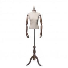 Торс-Манекен с деревянными руками (женский), ORG.004.DBG