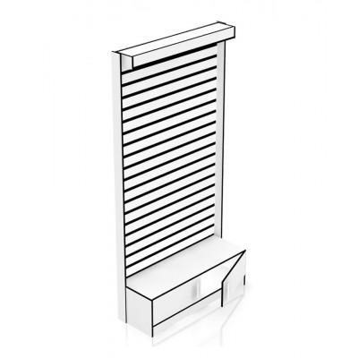 Каркас стойки для экономпанели с малым накопителем, дверками и световой панелью 2416х1232х419
