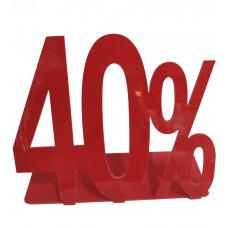 Табличка 40% для торгового зала