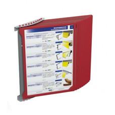 Настенная перекидная система в комплекте на 5 и 10 рамок ф.А4 INFOFRAME, INFOLINE-W5