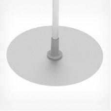 Круглая метал.подставка для рекламных стоек (держатель для трубок Ø 12), BASE-ML ROUND + STD-12