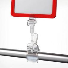 Держатель пластиковой рамки (с большим зажимом на трубу и регулятором наклона), Clamp+SW-CLIP