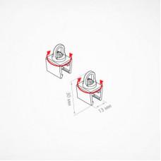 Держатель рамки с петлей для подвешивания (длина держателя: 15 мм), SLT320 (HELA, H-CLIP-SW)