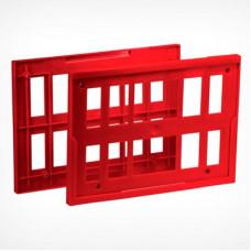 Рамка пластиковая (крепление на проволочную корзину, ф.A4), ST20